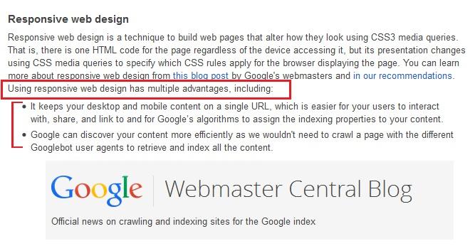 google responsive design siti web