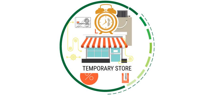 pubblicità per temporary store